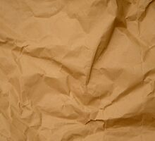 Crumpled Brown Parcel Paper Pattern Texture Background by HotHibiscus