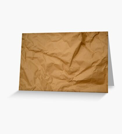 Crumpled Brown Parcel Paper Pattern Texture Background Greeting Card