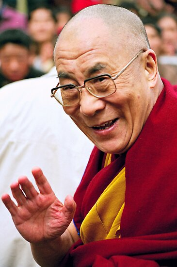 His Holiness the Dalai Lama. northern india by tim buckley   bodhiimages