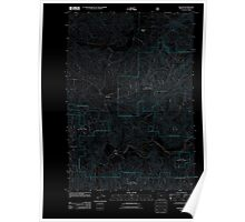 USGS Topo Map Oregon Beaver 20110810 TM Inverted Poster