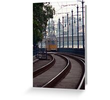 streetcar in Budapest Greeting Card