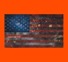 American Flag Galaxy Kids Tee