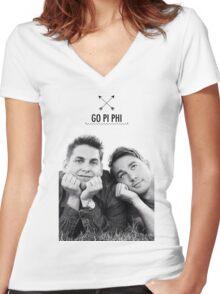 Go Pi Phi Women's Fitted V-Neck T-Shirt