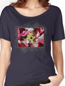 Double Late Peony-Flowered Tulip named Horizon Women's Relaxed Fit T-Shirt