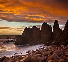 Fire in the sky - Cape Woolamai by Enzo Sgroi