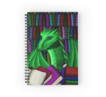 Green Dragon with Book Hoard - no glasses Spiral Notebook