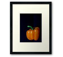 Orange Bell Pepper Framed Print