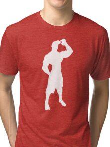 T-shirt outline AlbronMuscle Silhouette Tri-blend T-Shirt