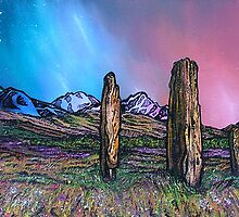 Machrie Moor Standing Stones, Early Spring, Isle of Arran. by Andrew Peutherer