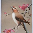 Original oil painting -bird  by hongtao-art