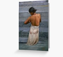 Original oil painting -bather Greeting Card