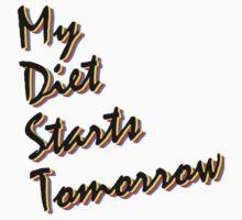 My Diet Starts Tomorrow One Piece - Long Sleeve