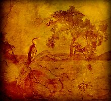 Tree with Bird by pennyswork