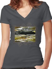 Marilene Staprilene Waves Women's Fitted V-Neck T-Shirt