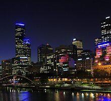 Melbourne Skyline after Dark#2 by aussiedi