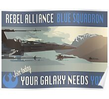 Rebel Alliance Blue Squadron Poster
