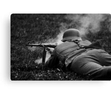 German WWII Soldier Firing Canvas Print