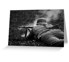 German WWII Soldier Firing Greeting Card