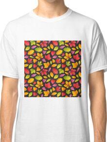 Autumn Leaves Pattern Dark Classic T-Shirt