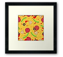 Pixel Pizza Framed Print