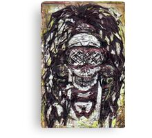 Goggle Skull Canvas Print