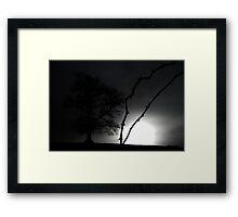 Winter Strikes Framed Print