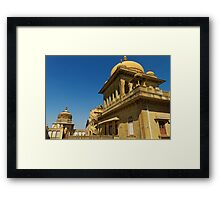 King's abode, Vijay Vilas Palace Framed Print