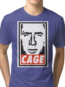 OBEY NICK CAGE  Tri-blend T-Shirt