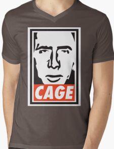 OBEY NICK CAGE  Mens V-Neck T-Shirt