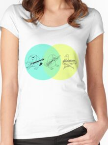 Keytar Platypus Venn Diagram Women's Fitted Scoop T-Shirt