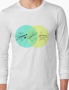 Keytar Platypus Venn Diagram Long Sleeve T-Shirt