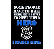 Police officers dad geek funny nerd Photographic Print