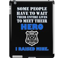 Police officers dad geek funny nerd iPad Case/Skin