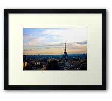 Eiffel Tower with Colored Sky Framed Print