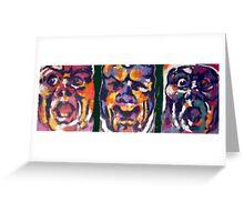 Mono Triptych Greeting Card