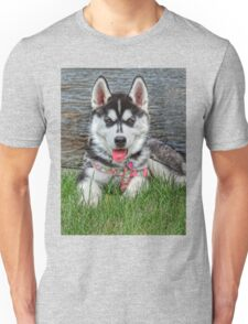 Sweet Siberian Husky Puppy Unisex T-Shirt