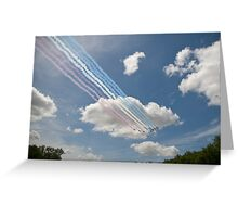Red arrows on display. Greeting Card