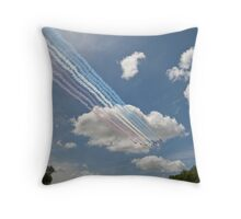 Red arrows on display. Throw Pillow