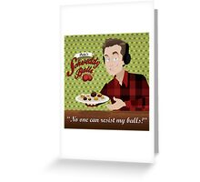 Schweddy Balls Greeting Card