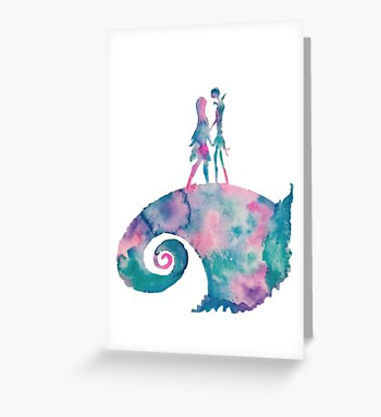 Watercolor Nightmare (white) Greeting Card