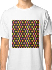 Autumn Leaves Pattern on Dark Background Classic T-Shirt