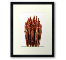 golden ammo  Framed Print
