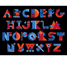 Alphabet Photographic Print