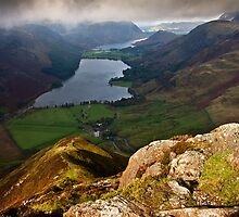 Brief flash of sunlight on Fleetwith pike by Shaun Whiteman