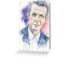 Twelfth Doctor. Peter Capaldi Greeting Card