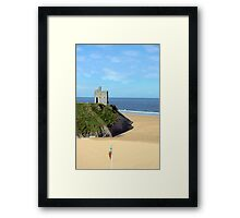 an irish flags view Ballybunion Ireland Framed Print