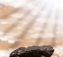 ancient stones in light rays by morrbyte