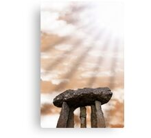ancient stones in light rays Canvas Print