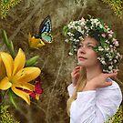 Flower girl. by Chris Bird