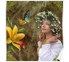 Flower girl. Poster